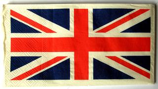 Very British #9 British Flag  - British, flag, Union Jack, blue, white, red, England, Scotland, Wales, napkin, tissue, cross, Fahne