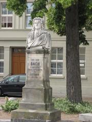 Köthen, Bach-Denkmal #2 - Johann Sebastian Bach, Köthen, Denkmal, Barock