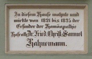 Köthen, Hahnemann-Haus #2 - Samuel Hahnemann, Homöopathie, Köthen, Denkmal