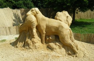 Skulpturen aus Sand #4a - Skulptur, Sand, Sandskulptur, Kunst, Kunstwerk, Bildhauerei