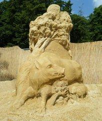 Skulpturen aus Sand #4c - Skulptur, Sand, Sandskulptur, Kunst, Kunstwerk, Bildhauerei