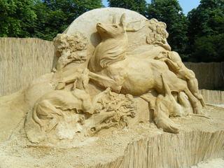 Skulpturen aus Sand #4d - Skulptur, Sand, Sandskulptur, Kunst, Kunstwerk, Bildhauerei