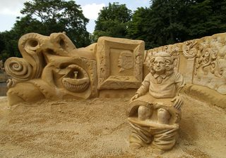 Skulpturen aus Sand #5 - Skulptur, Sand, Sandskulptur, Kunst, Kunstwerk, Bildhauerei