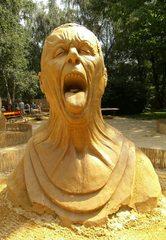 Skulptur aus Sand #8b/1 - Skulptur, Sand, Sandskulptur, Kunst, Kunstwerk, Bildhauerei