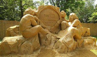 Skulptur aus Sand #9 - Skulptur, Sand, Sandskulptur, Kunst, Kunstwerk, Bildhauerei
