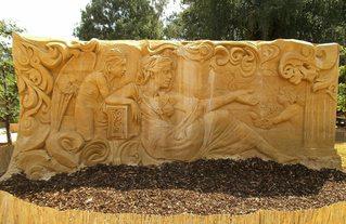 Skulptur aus Sand #10 - Skulptur, Sand, Sandskulptur, Kunst, Kunstwerk, Bildhauerei