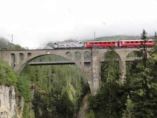 Soliser Viadukt  - Eisenbahn, Brücke, Eisenbahnbrücke, Viadukt, Solis, Schweiz, Graubünden, Albula, Bermina, Berminabahn, Weltkulturerbe, Unesco