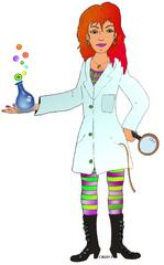 Wissenschaftlerin - Chemie, Wissenschaft, Wissenschaftler, Frau, Experiment, Physik, Versuch, Labor, Reagenzglas, Forscher, Kittel, Forscherin, Wissenschaftlerin, Lupe