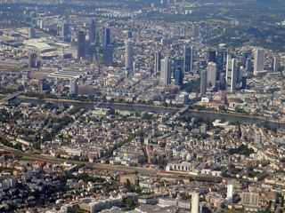 Frankfurt am Main - Luftaufnahme #3 - Frankfurt, Main, Stadt, Großstadt, Hessen, Deutschland, Luftaufnahme, Finanzzentrum