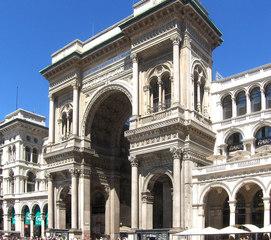 Galleria Vittorio Emanuele II in Mailand - Triumphbogen - Triumphbogen, Eingang, Galleria, Vittorio Emanuele II, Bogen, Gebäude, Bauwerk, Milano, Shoppinggalerie, Einkaufspassage
