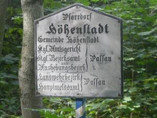 Ortsschild - Ortsschild, Königreich Bayern, 19 Jahrhundert