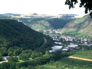 Moseltal #2 - Brücke, Mosel, Moseltal, weit, hoch, Wein, Weinberge, Tal, Blick, Aussicht, Wald, Hügel, Hänge