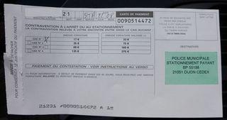 Strafzettel aus Frankreich - Strafzettel, papillon, Verwarnung, Ahndung, Ordnungswidrigkeit, Straßenverkehrsrecht, Zahlungsaufforderung