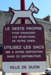 Hundetoilette #2 - Frankreich, civilisation, chien, WC, panneau, Hund, crotte de chiens, distributeur de sacs en plastique, déjections
