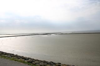Flut an der Nordsee - Lahnungen, Küstenschutz, Flut, Nordsee, Deich, Küste