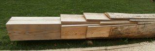Bearbeitung eines Baumstammes #1 - Holz, Baumstamm, Bretter, Latten, Balken, sägen, bearbeiten, Durchmesser, Mathematik, Quadrat, Quader, Volumen