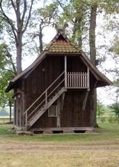 Treppenspeicher (1) - Heidebauernhof, Nebengebäude, Vorrat, Treppe, Lüneburger Heide, Speicher, Obergeschoss, Getreide, Buchweizen, Flachs, Wolle, Honig, Fleisch, Speck