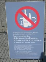 Alkoholverbot - Frankreich, Paris, panneau, Schild, Alkoholverbot, alcool, interdit