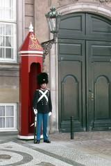 Wachtposten - Posten, Wache, Wachposten, Wachtposten, Leibgarde, Leibwache, Uniform, Bärenfellmütze, Schilderhaus, Schloss