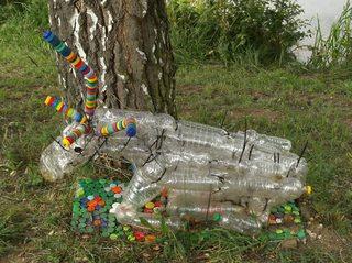 Waldtiere  aus Recyclingmaterial #2 - Objektkunst, Tier, Waldtier, Recyclingmaterial