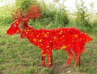 Waldtiere  aus Recyclingmaterial #1 - Objektkunst, Tier, Waldtier, Recyclingmaterial