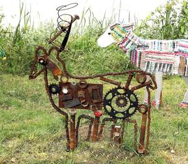 Waldtiere  aus Recyclingmaterial #8 - Objektkunst, Tier, Waldtier, Recyclingmaterial