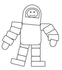 Astronaut - Astronaut, Kosmonaut, Weltall, All, fliegen, Weltraum, Anzug, Anlaut A, Zeichnung, Raumfahrer, Weltraumfahrer, Weltraum