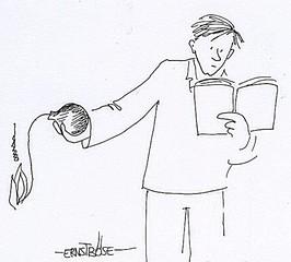 Gebrauchsanweisung - erst lesen, Cartoon, Gebrauchsanweisung, Zeichung, Striche, Kurzdarstellung, deutlich, Versuch
