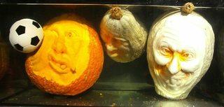 Kürbisgeist #3 - Kürbis, Gemüse, Herbst, orange, Halloween, Horror, erschrecken, Gesicht, Jahreszeit, Kürbisgeist, schnitzen, gruselig