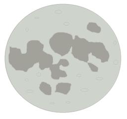 Vollmond - Vollmond, Mond, Trabant, Himmelskörper, Himmel, Weltall, Universum, Astronomie, Kugel, Mathematik