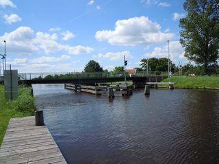 Drehbrücke  #1 - Brücke, drehen, Drehbrücke, Kanal, Ems-Jade-Kanal, Verkehr, Wasserstraße, Querung, Technik
