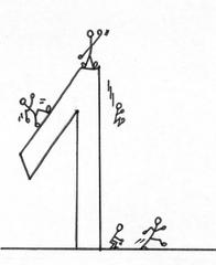 Ziffer - Eins S/W - Ziffer, Eins, Strichmännchen, Zahlenraum Zehn, Sehr Gut, Anlaut Ei, Illustration