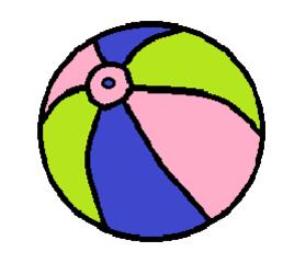 Strandball - Strandball, Wasserball, aufblasbar, Sommer, Ball, Sport, spielen, Spielzeug, Kugel, Körper, Oberfläche, Volumen, Mathematik