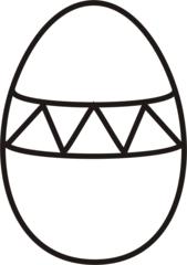 Osterei 3 - Ei, Eier, Osterei, zickzack, Muster, Ostern, Anlaut Ei, Anlaut O