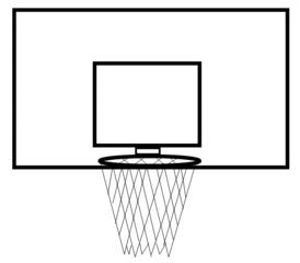Basketballkorb - Basketball, Korb, Basketballkorb, Sport, Spiel, Mannschaftssport, treffen, Brett, werfen, Netz, Ball, Punkte, spielen