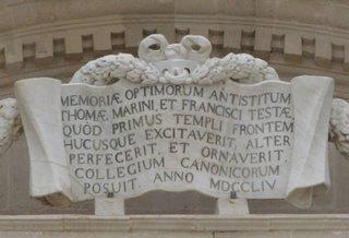 Lateinische Schrifttafel - Sizilien, Syrakus, Siracusa, lateinisch, römische Zahlen, Mathematik