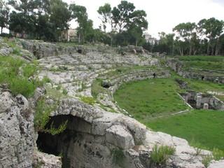 Syrakus - Amfiteatro Romano # 2 - Sizilien, Syrakus, Siracusa, Amphitheater