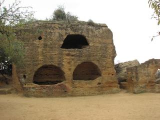 Agrigent - Grabhöhlen - Sizilien, Agrigent, Grab, Archäologie