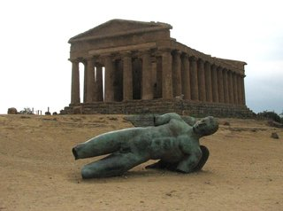 Agrigent - Ikaro Caduto vor dem Concordiatempel - Sizilien, Agrigent, Ikarus, Tempel, griechisch, Sage