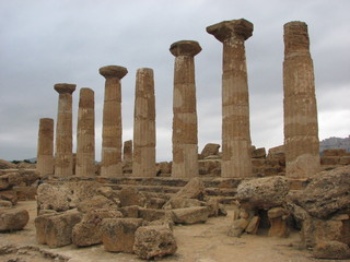 Agrigent - Heraklestempel - Sizilien, Agrigent, Tempel, griechisch, Archäologie