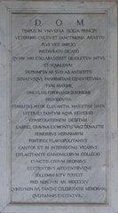 Palermo - Dom - lateinische Tafel - Palermo, Dom, Schrifttafel, lateinisch