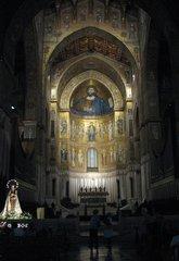 Monreale - Normannischer Dom Santa Maria Nuova  - Mosaik, Gold, normannisch, byzantinisch, arabisch, Domchor