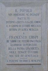 Palermo - Rathaus - Schrifttafel # 1 - Gedenktafel, italienisch