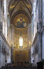 Cefalù - Normannischer Dom - Sizilien, Normannen, normannisch, byzantinisch, Mosaik, Gold