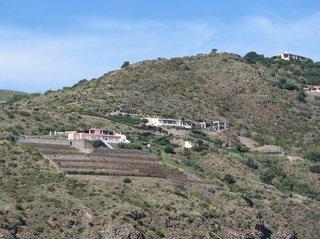 Terrassenanbau auf Lipari - Landwirtschaft, Terrassenanbau, Abstufung, Gelände, Terrassenfeldbau, Terrassenkultur, Steilhang, Flurform