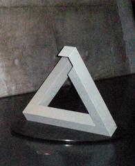 Penrose-Dreieck, Tribar #1 - Penrose, Dreieck, Tribar, Optik, Illusion, drei, rechter Winkel, Balken, Euklid, Winkel, Physik, Optische Täuschung