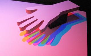 Farbige Schatten #1 - Schatten, Licht, farbig, Lichtquelle, mehrfarbig, Beleuchtung, Halbschatten, Physik, Optik