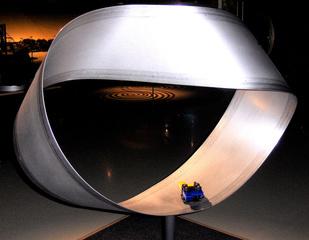Möbiusband #1 - Möbiusband, Streifen, Papier, Kante, Fläche, zweidimensional, innen, außen, Skulptur, Mathematik