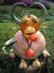 Kürbisdekoration #1 - Kürbis, Herbst, Dekoration, bunt