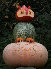 Kürbisdekoration #5 - Kürbis, Herbst, Dekoration, bunt